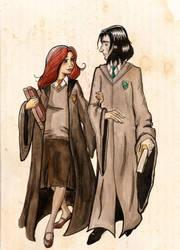 Snape and Lily. by SteakandUnicorns
