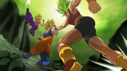 Goku vs the Saiyan girls by Easterhands