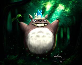Totoro by ladyphoenixskull