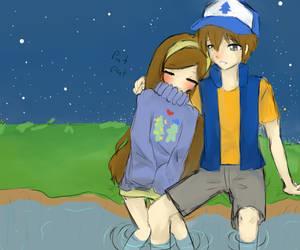 Awkward Sibling Cuddle? by Yuki-loli