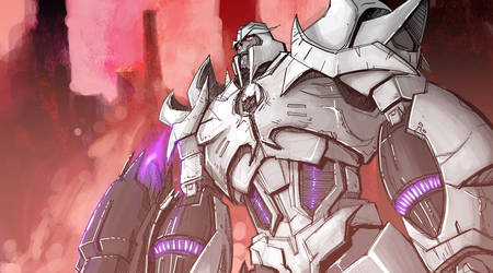 Megatron rough work by will-Ruzicka