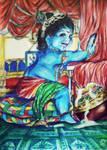 Baby Krishna by Rainbonime