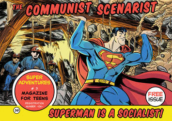Superman is a Socialist! Cover. by JsmNox