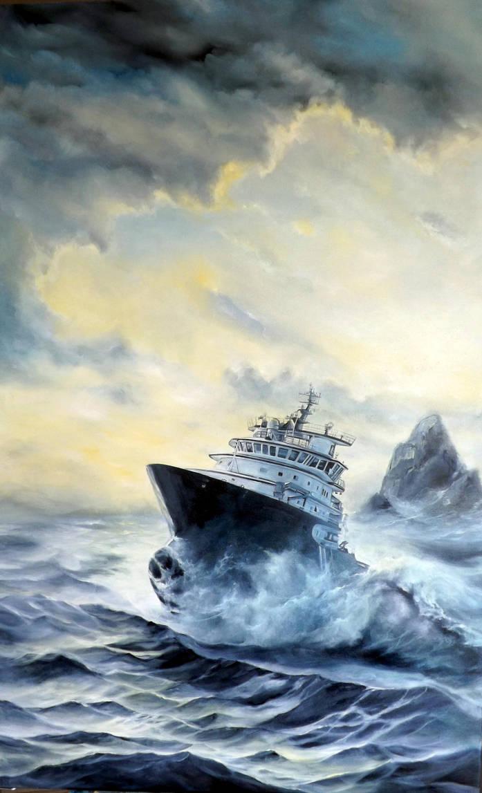 sea rescue by jbillustration