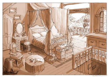 Bedroom on The Treetop by anacathie