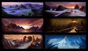 Scenery Paintings (coloured) by anacathie