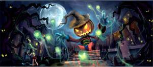 Jack O'Lantern Scarecrow by anacathie