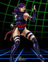 Psylocke ready for Capcom by BW-Straybullet