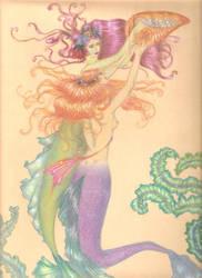 Arthur Rackham mermaid by PivoineRouge
