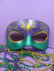 Mardi Gras masquerade mask with fleur by maskedzone