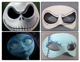 Nightmare Before Christmas masquerade masks by maskedzone