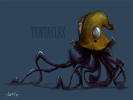 tentacles by brknpencil-alleraser