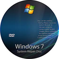 Windows 7 Repair Disc Label (Jpeg File) by RoadWarrior00