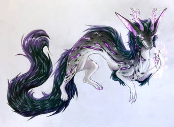 Commission: jecking long noodle floof boi  by WinterFox18