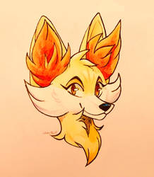 Fennekin by WinterFox18