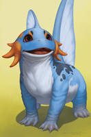 Starters - Mudkip by Evelar