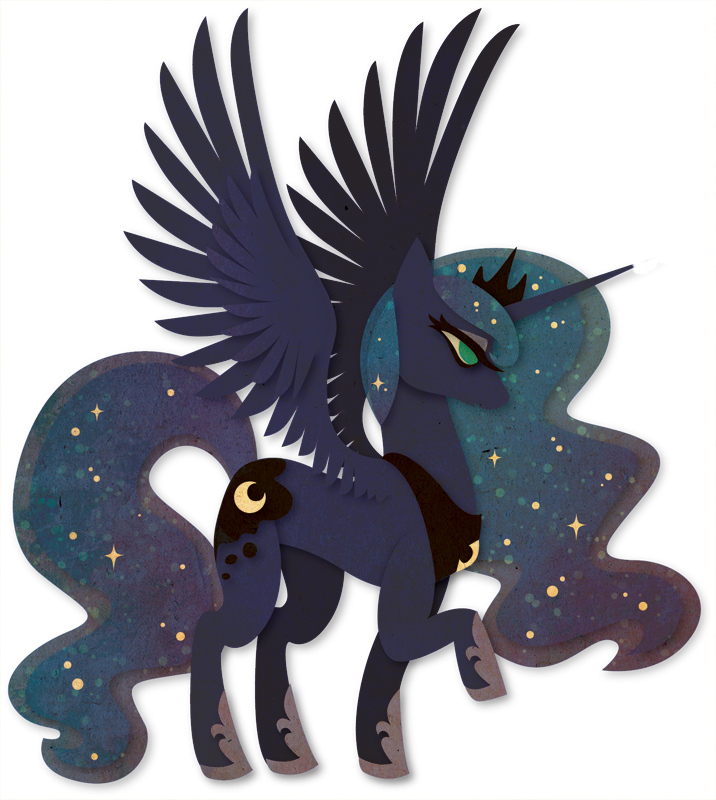 Luna Paper Vector by Sleepwalks