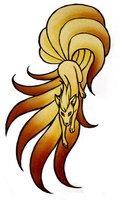 Ninetales Tattoo Commission by Sleepwalks