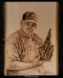 In Memory of John - Woodburning by brandojones