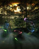 Mystic forest + fog by PSDtech