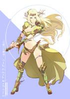 Elf Knight by wickedalucard