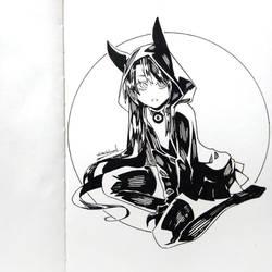 2018 Inktober Witch 12 by wickedalucard