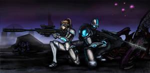 Starcraft 2 terran ghosts by JTSubconscious8