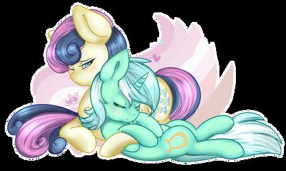 Lyra And Bon Bon by FleetyArrowDraw
