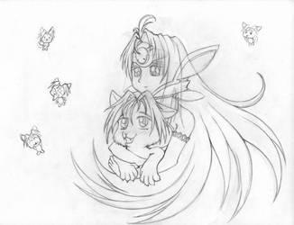 KosMos and Serge - Sketch by LadyTsunade
