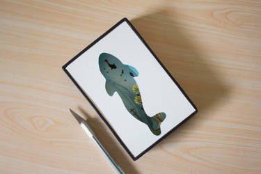 Nature Within ~ Whale Paper cut diorama by NVillustration
