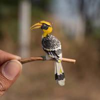 Great Hornbill - Paper cut birds by NVillustration