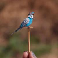 Budgerigar - Paper cut birds by NVillustration