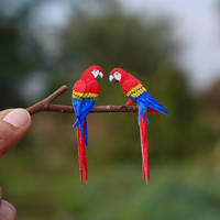 Scarlet Macaw- Paper cut birds by NVillustration