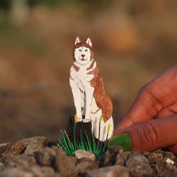 Siberian Husky - Paper cut art by NVillustration