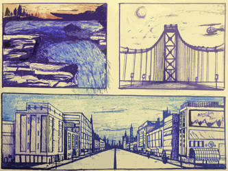 Scenery Sketch Practice #2 by MintyFreshThoughts
