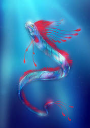 Regalecus glesne Oarfish by Fany001
