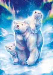 Polar Bear Family by Fany001