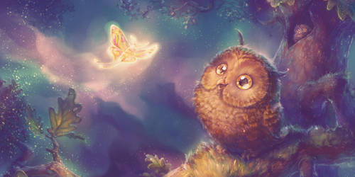 Owlie and the Fairy Moth by Fany001