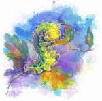 Japanese Oak Silkmoth Caterpillar by Fany001