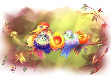10 000 Crazy Birds by Fany001