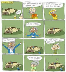 why aang died so early by Skittlemonkey