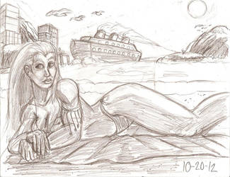 Morgana Beach pic remake for Lord Coyote by RocMegamanX