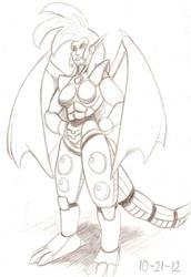 Dragondelle 2012 Sketch by RocMegamanX