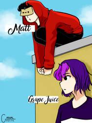 Grape Juice and Matt by CasualRecoil
