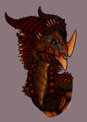 Wyvern Bust by NukaKid