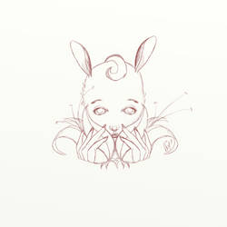 Deer Line Art by nianite99