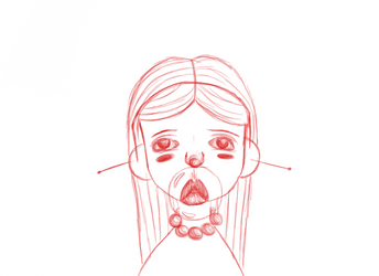 Digital Lineart for: Bubblegum Baby by nianite99