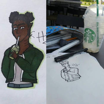 Deryn at Starbucks by HaniaJedi