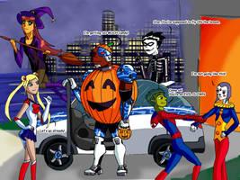 Teen Titans Halloween by gsomuano