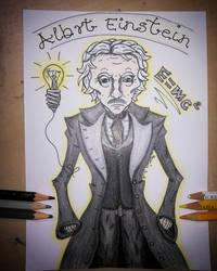 Albert Einstein by Todeskuenstlerin